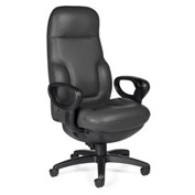 Global™ Deluxe Executive Chair - Leather - High Back - Black - Presidential Concorde Series