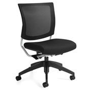 Global™ Graphic Medium Posture Mesh Back Chair Black with Coal Fabric Seat