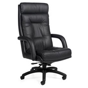 Global™ Executive Tilter Chair - Leather - High Back - Black -  Arturo Series