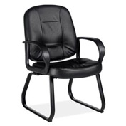 Global™ Arno - Armchair With Sled Base - Black Upholstery