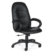 Global™ Tilter Office Chair with Arms - Leather - High Back - Black - Tamiri Series