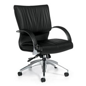 Global™ Office Chair with Knee Tilt - Fabric - Mid Back - Black - Softcurve Series