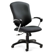 Global™ Supra High Back Pneumatic Tilter Chair with Arms Fabric Graphite
