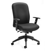 Global™ Truform High Back Weight Sensing Synchro-Tilter Chair Black Fabric