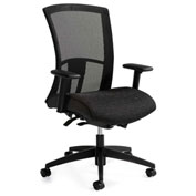 Global™ Vion High Mesh Back Weight Sensing Synchro-Tilter Chair Black Coal