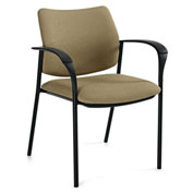 Global™ Sidero Guest Chair with Arms Dark Sand Fabric