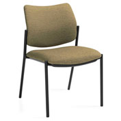 Global™ Armless Guest Chair - Fabric - Dark Sand - Sidero Series