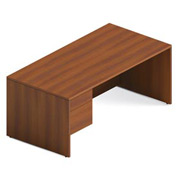 Global™ Adaptabilities - Single Left Pedestal Desk - Avant Honey Laminate