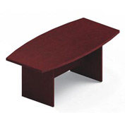 Global™ 6' Boardroom Table - Boat Shaped - Laminate - Quartered Mahogany
