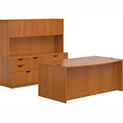 "Offices To Go™ Wood Desk & Credenza with Hutch - 71"" - American Cherry - Bundle #10"