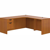 """Offices To Go™ L Desk with Single Pedestal - 72"""" - American Cherry - Bundle #13"""