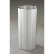 Glaro 11 Gallon Open Top Wastebasket, Satin Aluminum New Yorker Collection - 1223-SA