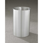 Glaro 18 Gallon Open Top Wastebasket, Satin Aluminum New Yorker Collection - 1523-SA