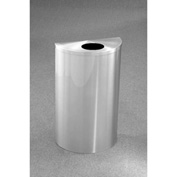 Glaro 14 Gallon Half Round Bottles/Cans Waste Receptacle, Satin Aluminum - 1892-SA-SA