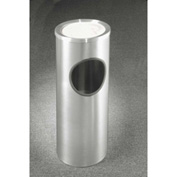 Glaro 3 Gallon Ash/Trash Receptacle w/Sand Cover, Satin Aluminum - 192SA