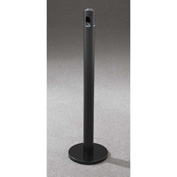 "Glaro Value-Max 3"" Dia. x 43-1/2""H Weighted Base Floor Stand Smokers Post, Satin Black - 2403-BK"
