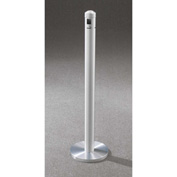 "Glaro Value-Max 3"" Dia. x 43-1/2""H Weighted Base Floor Stand Smokers Post, Satin Aluminum - 2403-SA"