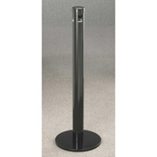 "Glaro Deluxe 3-1/2"" Dia. x 42""H Floor Standing Smokers Post, Satin Black - 4403-BK"