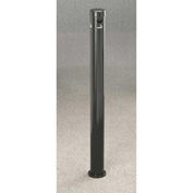"Glaro Deluxe 3-1/2"" Dia. x 42""H In-Ground Mount Smokers Post, Satin Black - 4404-BK"