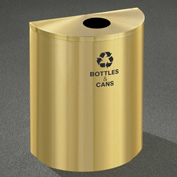 Glaro Recyclepro Half Round Satin Brass, 29 Gallon Bottles/Cans - B2499BE-BE-B&C