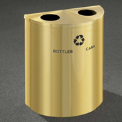 Glaro Recyclepro Half Round Satin Brass, (2) 14-1/2 Gallons Bottles & Cans - BC2499BE-BE-B/C