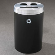 Glaro Recyclespro Triple Stream Satin Black/Satin Aluminum, Bottles/Cans/Paper - BCP-2032BK-SA