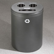 Glaro Recyclespro Triple Stream Silver Vein, 30 Gal, Bottles/Cans/Paper - BCP-2032SV-SV