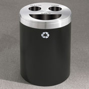 Glaro Recyclespro Triple Stream Midnight Blue/Satin Aluminum, Bottles/Cans/Trash - BCT-2032BL-SA