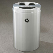 Glaro Recyclespro Triple Stream Satin Aluminum, 30 Gal, Bottles/Cans/Trash - BCT-2032SA-SA