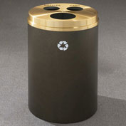 Glaro Recyclespro Triple Stream Satin Black/Satin Aluminum, Bottles/Cans/Waste - BCW-2032BK-SA