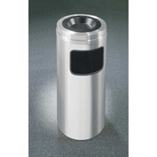 Glaro 10 Gallon Ash/Trash Receptacle w/Sand Cover, Satin Aluminum - C1531SA