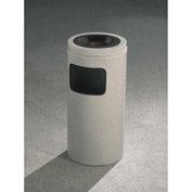 Glaro 10 Gallon Ash/Trash Receptacle w/Sand Cover, Satin Black - C1561-BK-BK