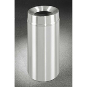 Glaro 12 Gallon Waste Receptacle w/Funnel Top, Satin Aluminum - F1232SA