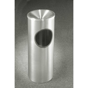 Glaro 3 Gallon Ash/Trash Receptacle w/Funnel Top, Satin Aluminum - F192SA