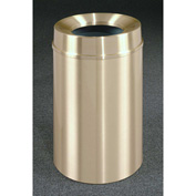 Glaro 33 Gallon Waste Receptacle w/Funnel Top, Satin Brass - F2035BE