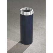 Glaro 6 Gallon Waste Receptacle w/Funnel Top, Satin Black/Satin Aluminum Lid - F924-BK-SA