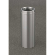 Glaro 6 Gallon Waste Receptacle w/Funnel Top, Satin Aluminum - F924SA