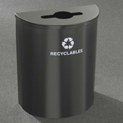 Glaro Recyclepro Half Round Silver Metallic, 29 Gallon Mixed Recyclables - M2499SM-SM-R