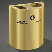 Glaro Recyclepro Half Round Satin Brass, (2) 14-1/2 Gal Recycle & Waste - MW2499BE-BE