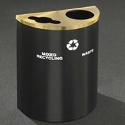 Glaro Recyclepro Half Round Burgundy/Satin Brass, (2) 14-1/2 Gal Recycle & Waste - MW2499BY-BE