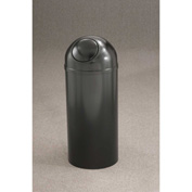 Glaro 8 Gallon Waste Receptacle w/Self Closing Dome Top, Bronze Vein - S1251-BV-BV