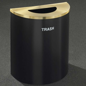 Glaro Recyclepro Half Round Burgundy/Satin Brass, 29 Gallon Trash - T2499BY-BE-T