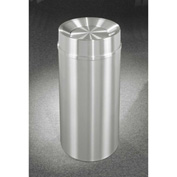 Glaro 33 Gallon Waste Receptacle w/Tip Action Top, Satin Aluminum - TA2035SA
