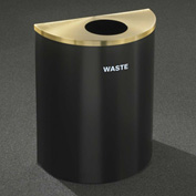 Glaro Recyclepro Half Round Burgundy/Satin Brass, 29 Gallon Waste - W2499BY-BE-W