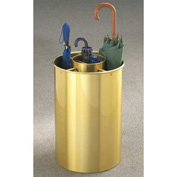 Cylinder Style Satin Brass Umbrella Stand for Full & Tote Size Umbrellas