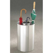 Cylinder Style Satin Aluminum Umbrella Stand for Full & Tote Size Umbrellas