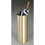 Cylinder Style Satin Brass Umbrella Stand for Full Size Umbrellas