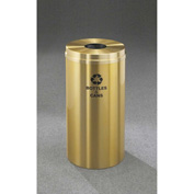 Glaro Recyclepro Single Stream Satin Brass, 12 Gallon Bottle/Can - B-1232-BE