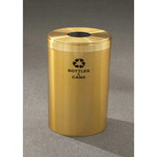 Glaro Value Recyclepro Single Stream Satin Brass, 23 Gallon Bottles/Cans -B-1542-BE