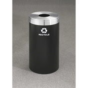Glaro Value Recyclepro Single Stream Satin Black, 23 Gallon Bottles/Cans -B-1542